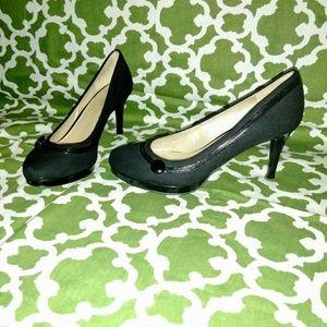 """Nine West Black 3.5"""" heels 8m"""